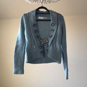 Blue wool Anthropologie sweater